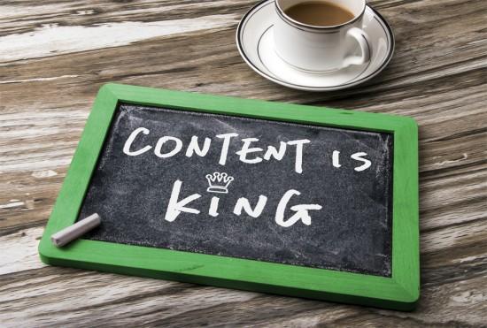 content is king handwritten on blackboard