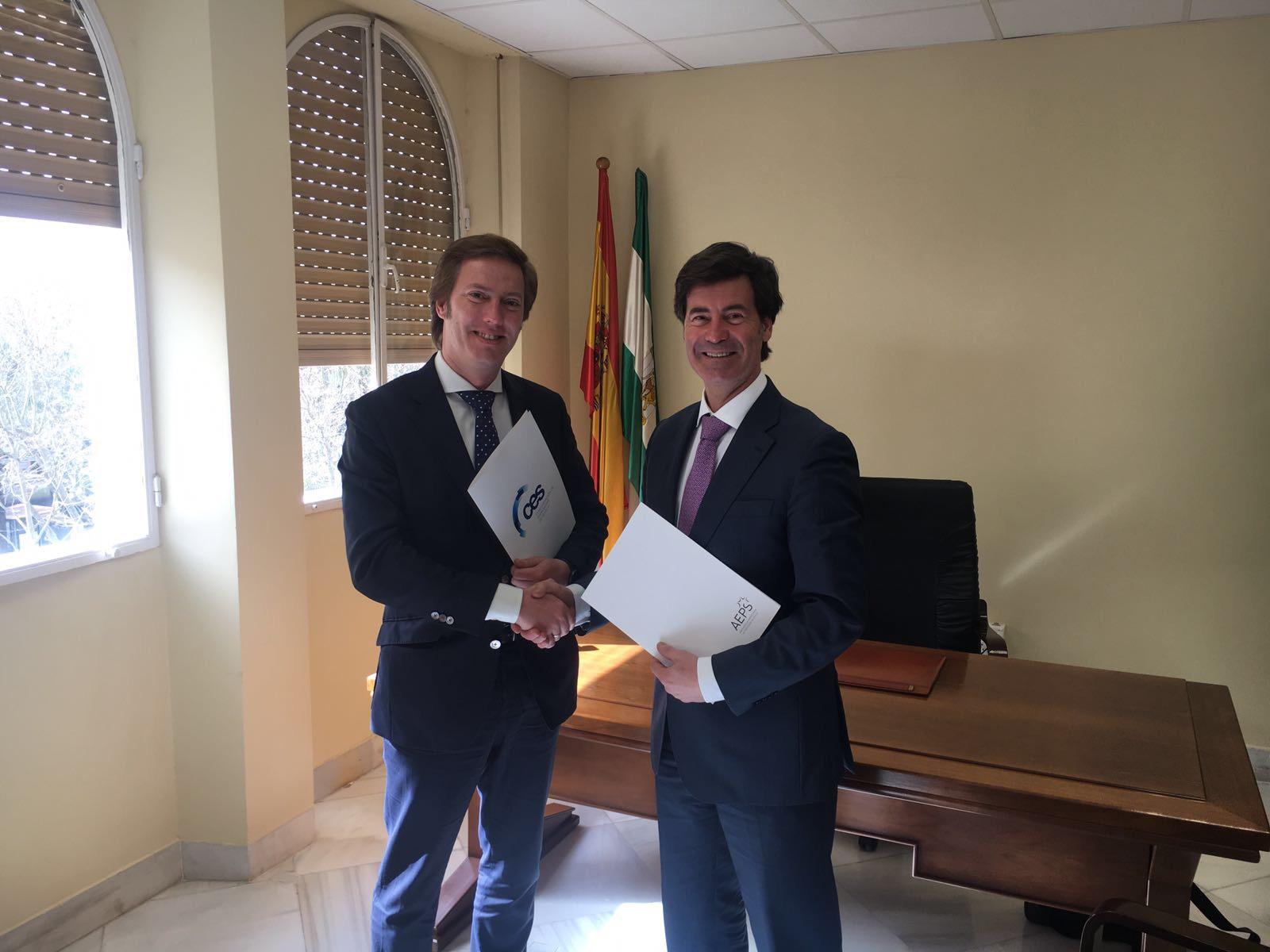 D. Salvador Toscano (AEPS), D. Miguel Rus (CES)